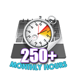 250 Hours Online in a Month