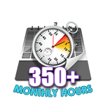350 Hours Online in a Month