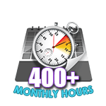 400 Hours Online in a Month