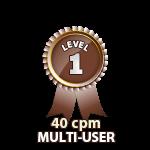 Multi-User 40cpm - Level 1