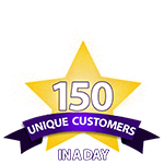 150 Unique Customers in a Day