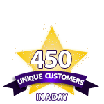 450 Unique Customers in a Day