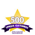 500 Unique Customers in a Day