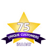 75 Unique Customers in a Day