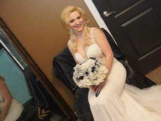 Bride secretary messy dildo