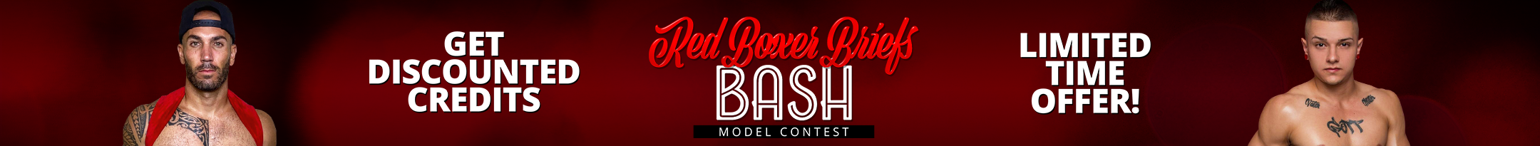 Red Boxer Briefs Bash Discount Promo