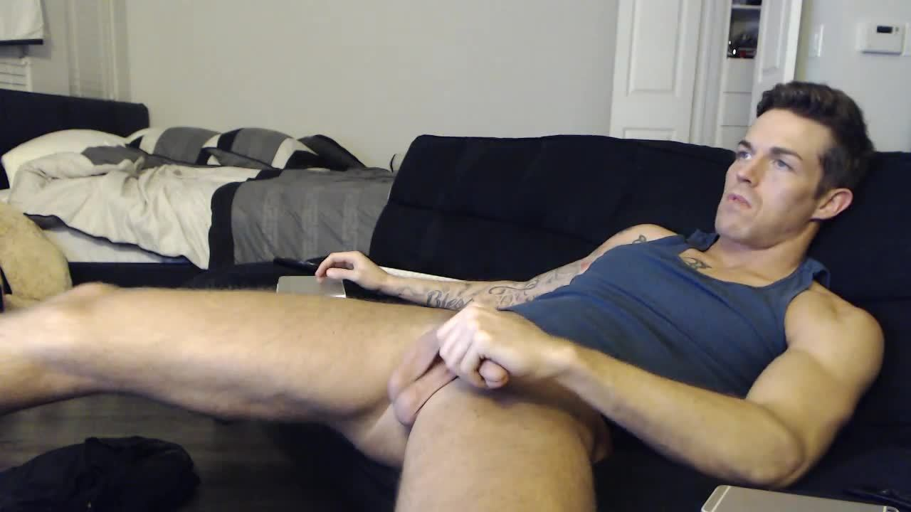 Gay solo jerking off