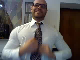 Muscles, Uncut, Business Suit, Jerking Off, Glove, Cum, Cum Eating