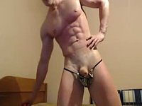 European Model Aaron Flex Webcam Show
