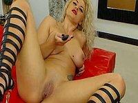 Girl in High Heels Fingering Herself