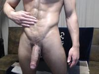 Antonio Plays with His Huge Cock - Great Cum Shot
