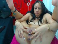 Tamara Plays with Dildo in Pussy and in Ass